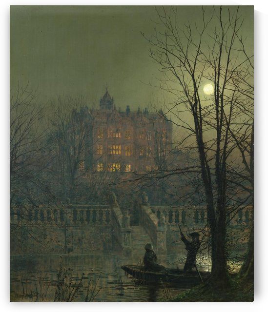 Couple in the night by John Atkinson Grimshaw