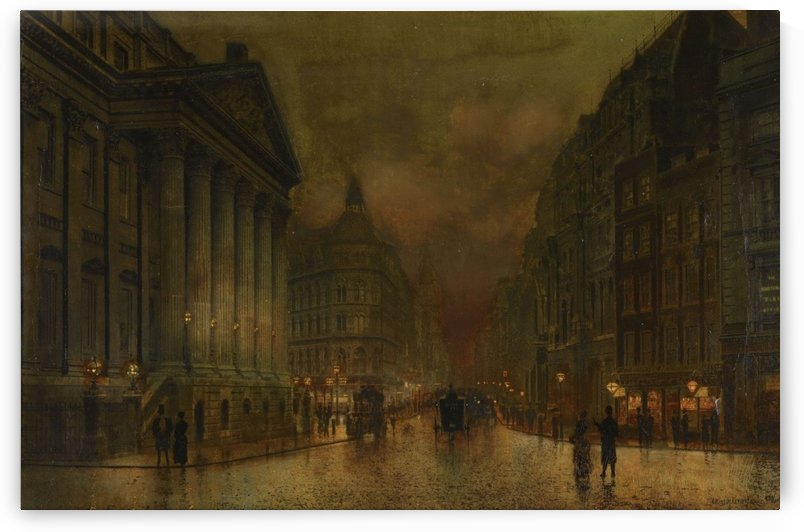 Moonlight in Victorian town by John Atkinson Grimshaw
