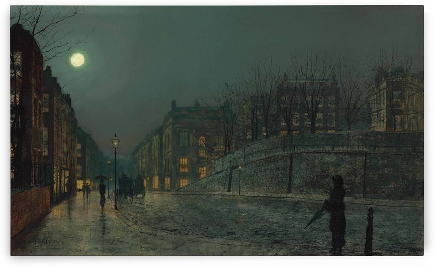 Heath Street, Hampstead by John Atkinson Grimshaw