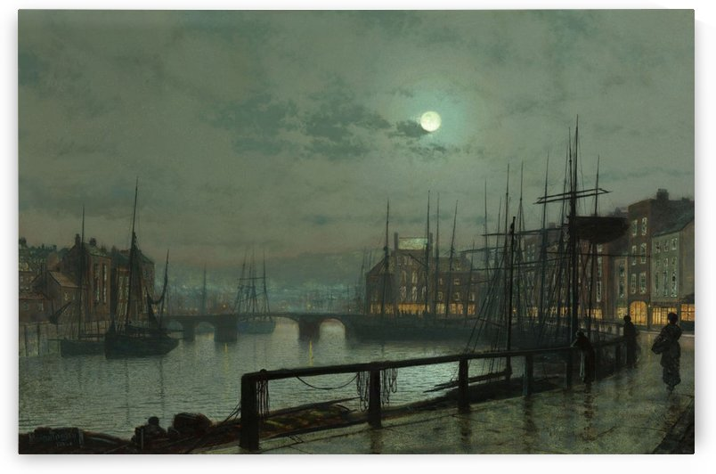 Whitby by moonlight by John Atkinson Grimshaw