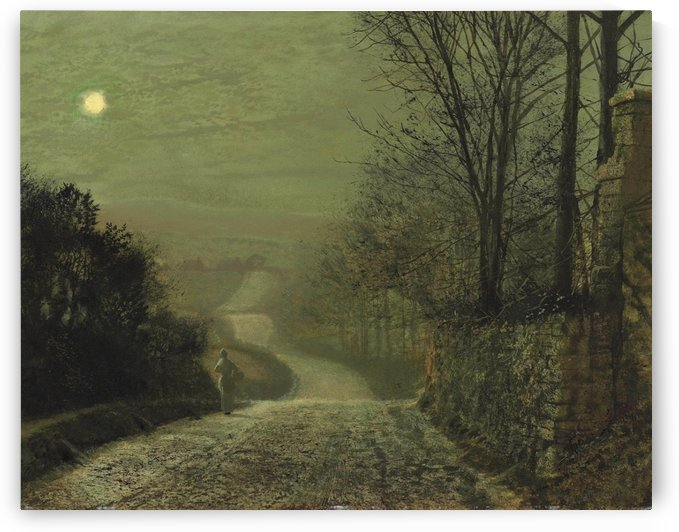 A country lane by moonlight by John Atkinson Grimshaw