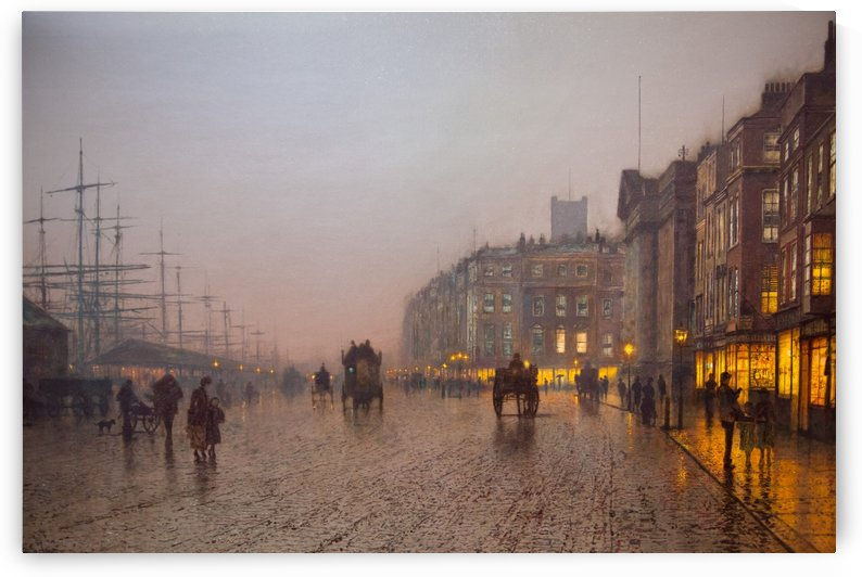 Liverpool from Wapping by John Atkinson Grimshaw