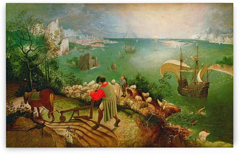Pieter Bruegel the Elder: Landscape with the Fall of Icarus HD 300ppi by Stock Photography