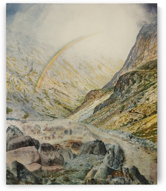 A mountain road, flood time by John Atkinson Grimshaw