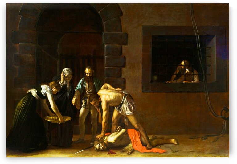 Caravaggio: The Beheading of St John the Baptist HD 300ppi by Stock Photography