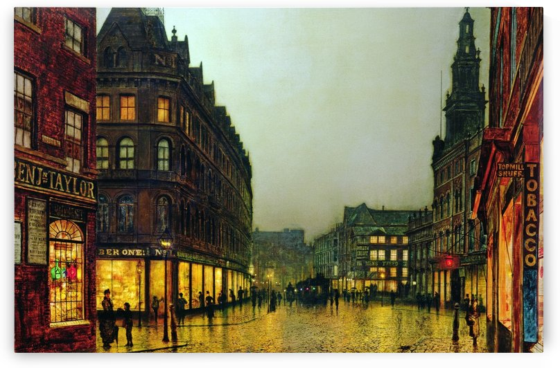 Boar Lane, Leeds by John Atkinson Grimshaw