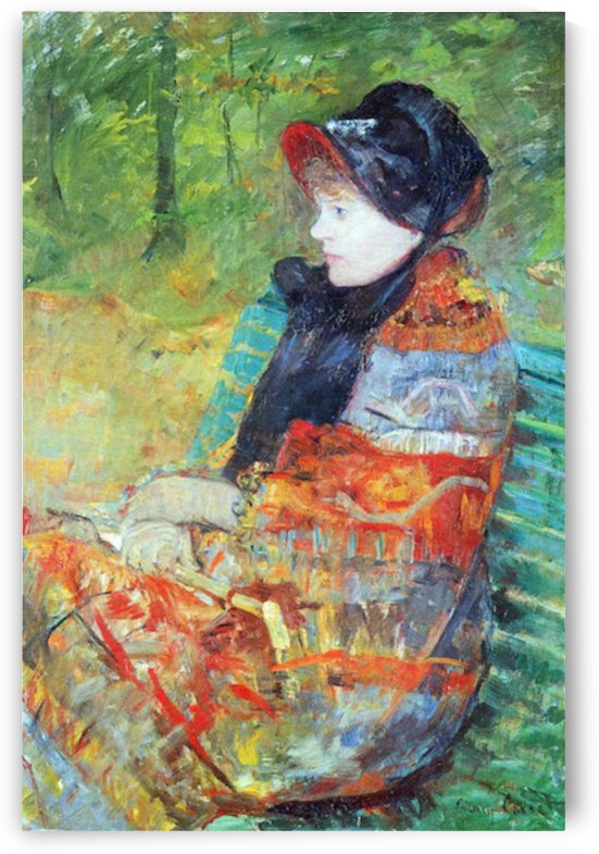 Profile of Lydia by Cassatt by Cassatt