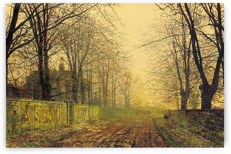 The Sere and Yellow Leaf by John Atkinson Grimshaw