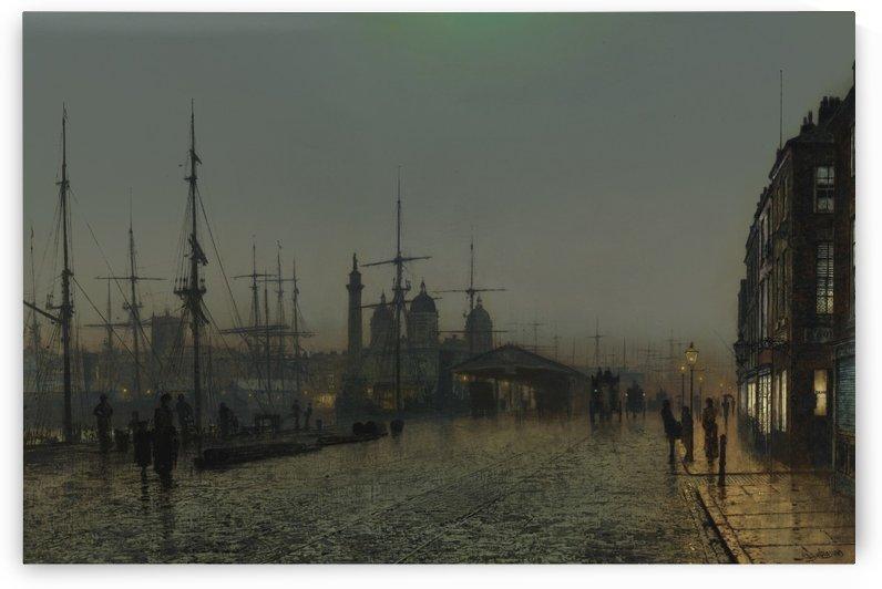 Hull docks at night by John Atkinson Grimshaw