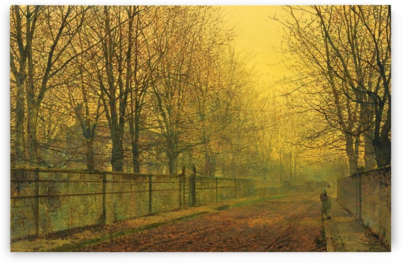 In the Golden Glow of Autumn by John Atkinson Grimshaw