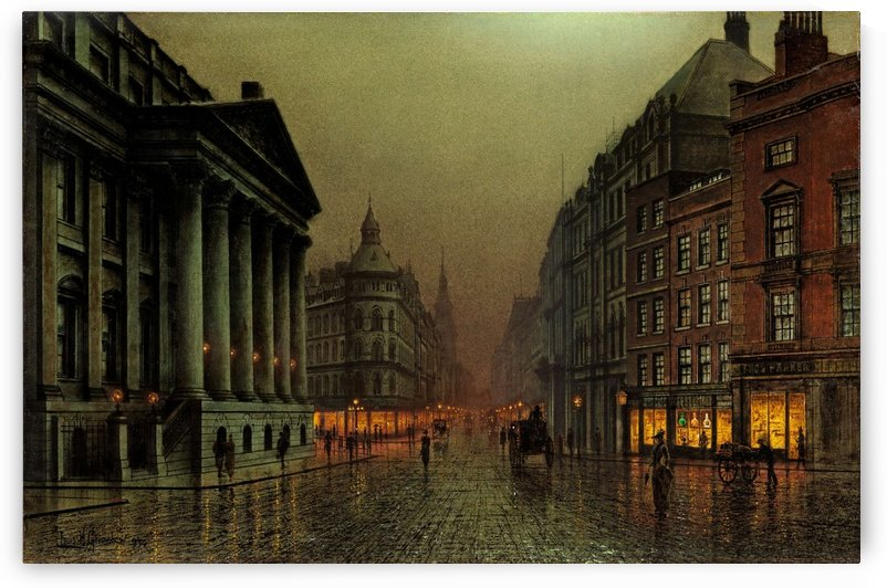 Mansion House, London by John Atkinson Grimshaw