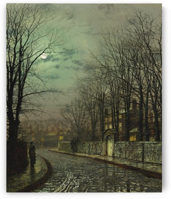 The tryst by John Atkinson Grimshaw