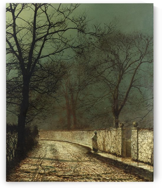 A November Night, 1874 by John Atkinson Grimshaw