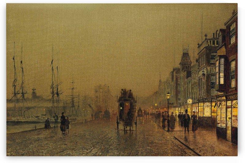 Glasgow, Saturday Night by John Atkinson Grimshaw