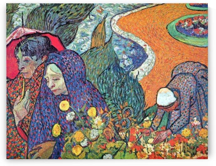 Promenade in Arles by Van Gogh by Van Gogh