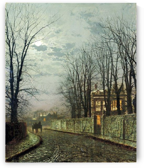 A Wintry Moon by John Atkinson Grimshaw
