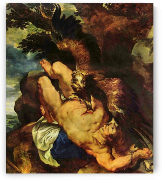 Prometheus bound by Rubens by Rubens