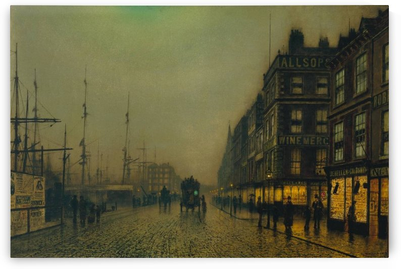 Liverpool Quay by Moonlight 1887 by John Atkinson Grimshaw