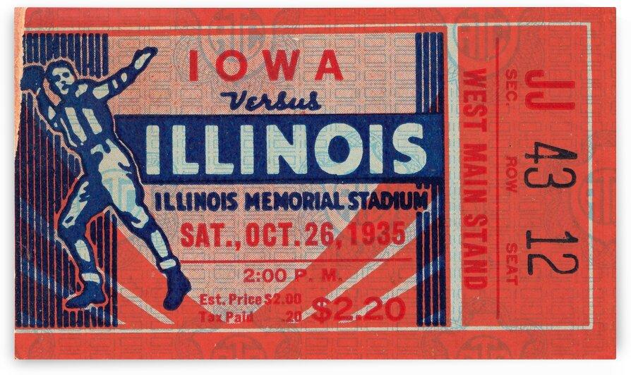 1935 Illinois vs. Iowa by Row One Brand