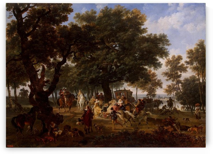 Henri IV and his Suite Hunting by Nicolas Antoine Taunay