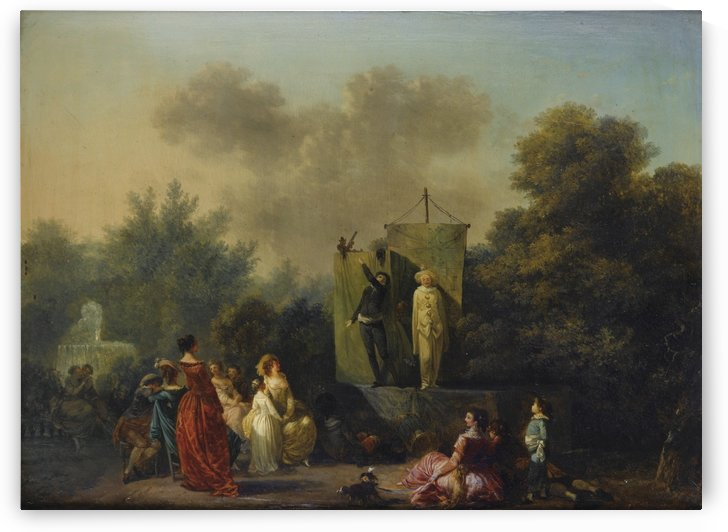 Parade avec Pierrot, Scapin et Arlequin by Nicolas Antoine Taunay