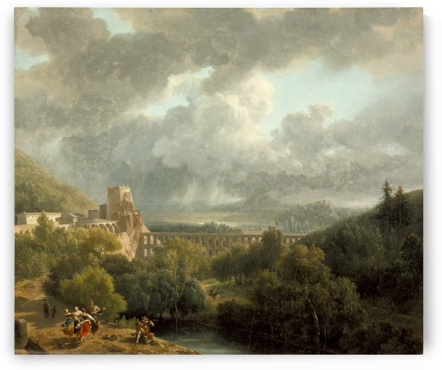 Landscape with an Aqueduct by Nicolas Antoine Taunay