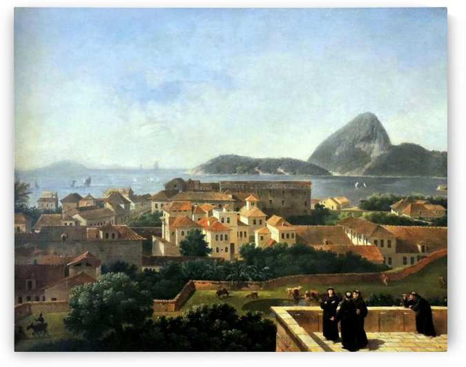 Santo Antonio Hill, Rio de Janeiro by Nicolas Antoine Taunay