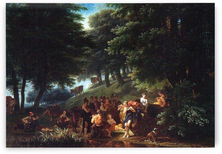 Apolo visitando Admeto by Nicolas Antoine Taunay