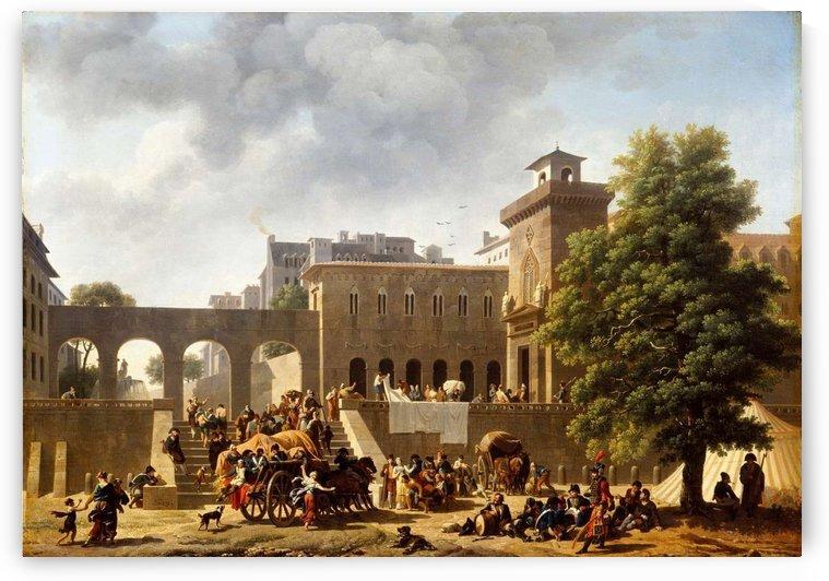 Exterieur d'un hopital militaire, dit Les Francais en Italie by Nicolas Antoine Taunay