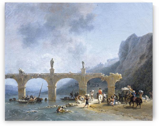 Vue du pont dit de Jules Cesar en Sicile by Nicolas Antoine Taunay