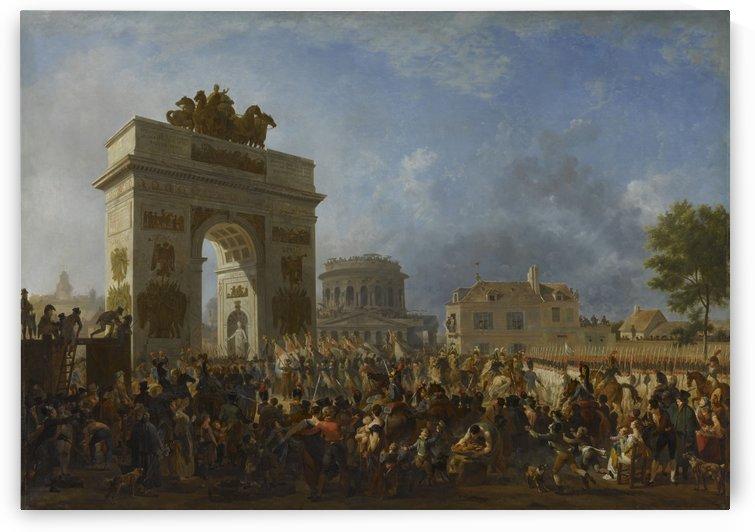 Entree de la garde imperiale a Paris par la barricade de Pantin by Nicolas Antoine Taunay