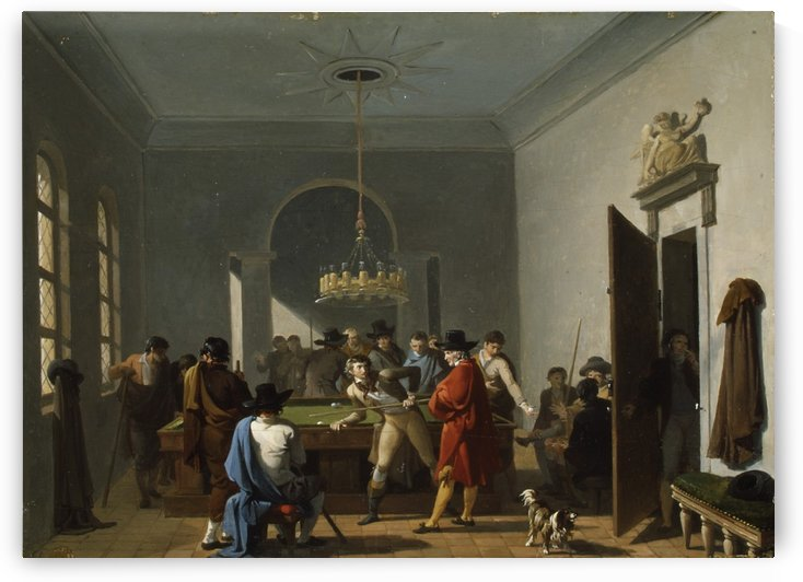 The Billiard Room by Nicolas Antoine Taunay