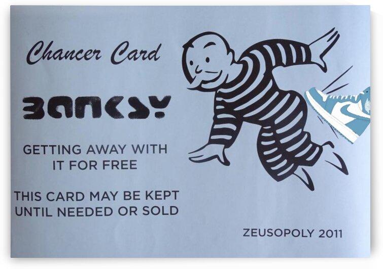 Banksy chancer cardblueshoe by Betojimenez