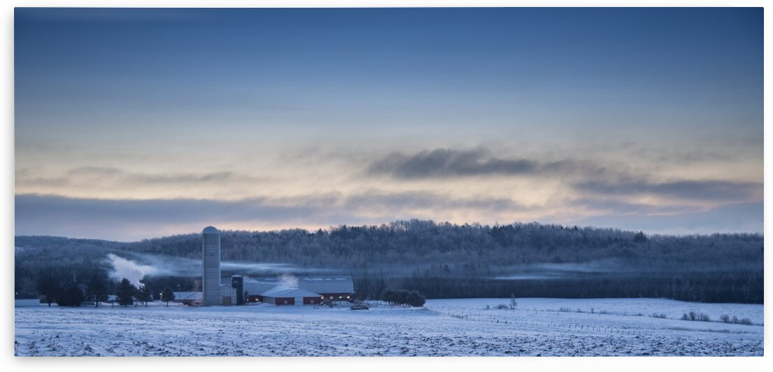 Winter field by Jacques Frenette