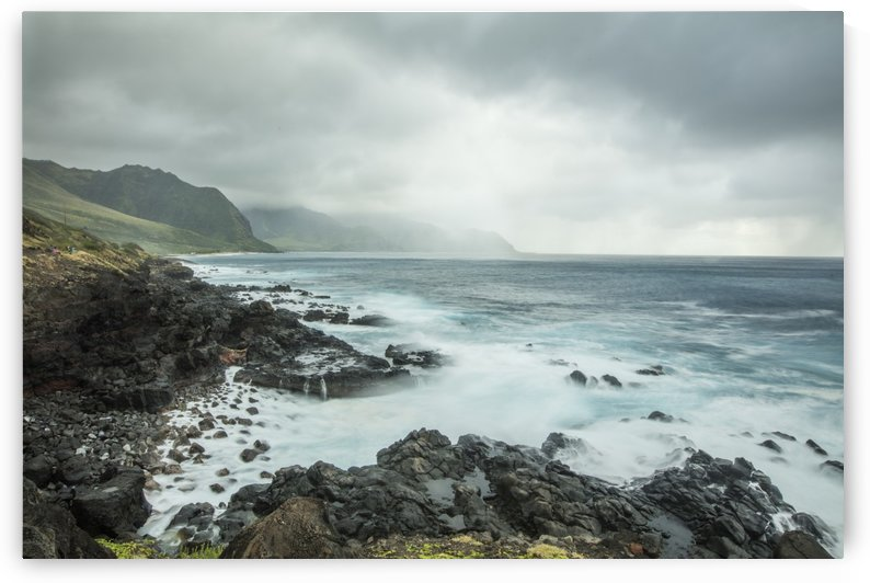 Storm on Kaena Point  by Ramon Brockington