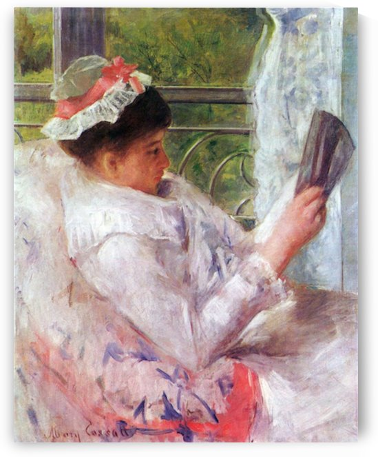 Reading Mrs. (Lydia Cassat) by Cassat by Cassatt
