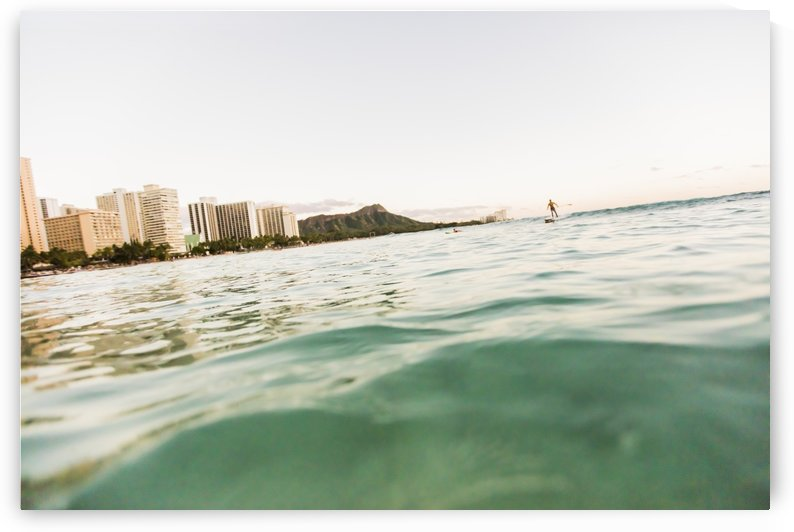 Surfing Waikiki by Ramon Brockington