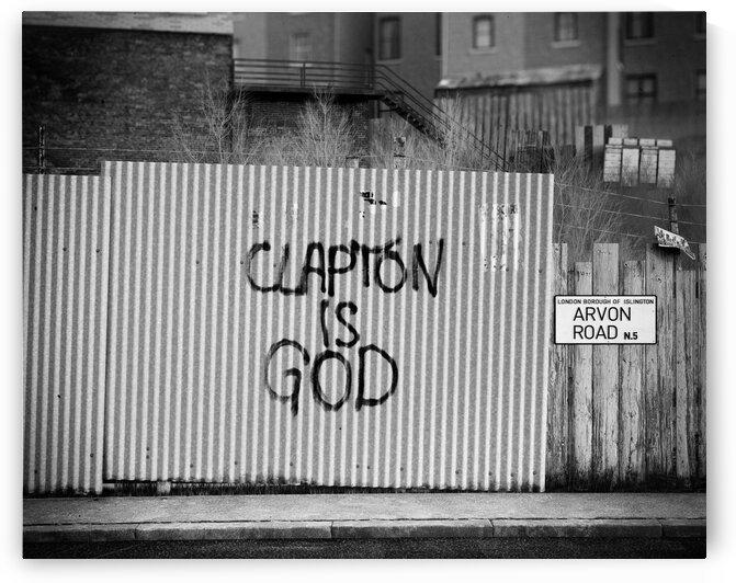 Clapton is God graffiti by Studio 3 Art