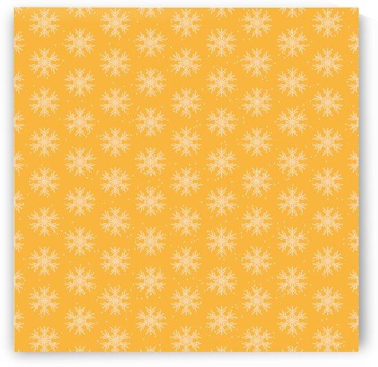 Cute Yellow Snowflakes by rizu_designs