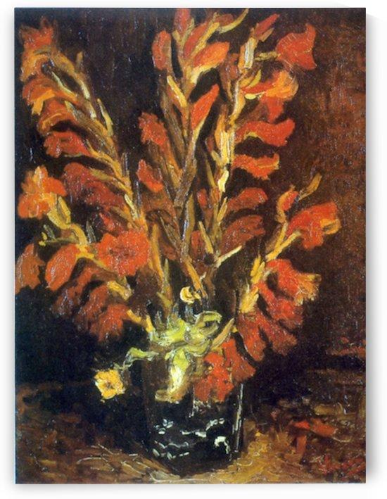 Red Gladioli by Van Gogh by Van Gogh