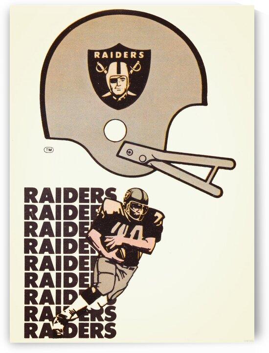 1976 Oakland Raiders Art by Row One Brand
