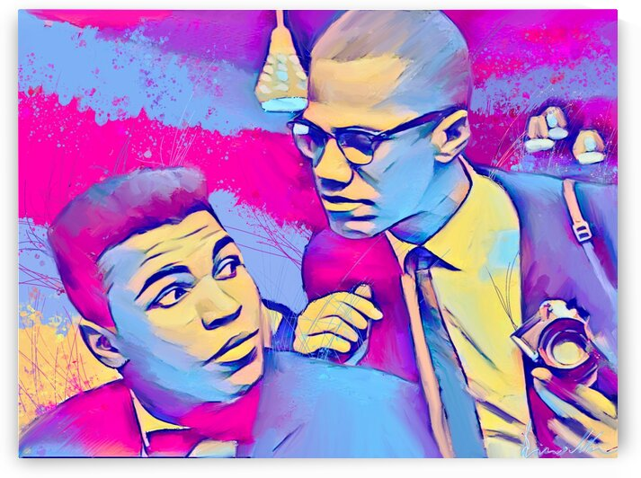 Muhammad Ali & Malcolm X Legends by Enrico Moses