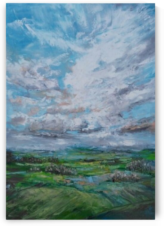 FEBRUARY PROMISE FOR SPRING original skyscape painting 50x70cm by FEBRUARY PROMISE FOR SPRING original skyscape painting 50x70cm