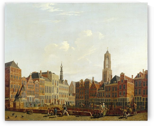 Utrecht Town Hall Bridge with Surroundings by Isaac Ouwater