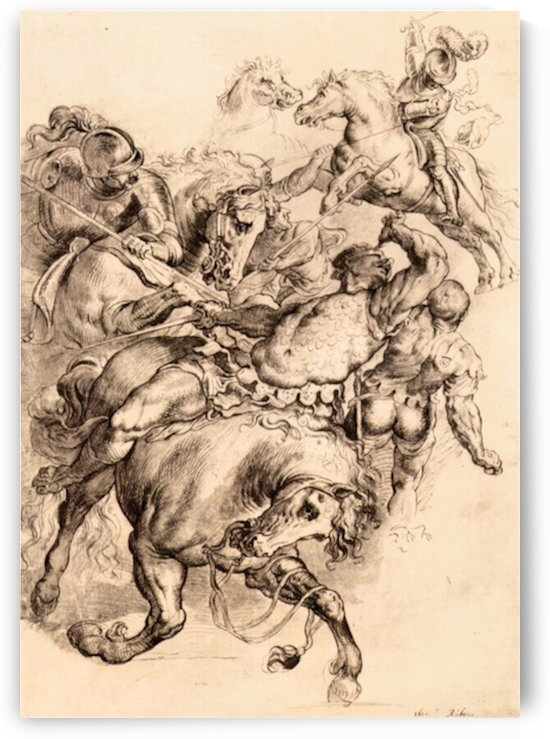 Reiter battle by Rubens by Rubens