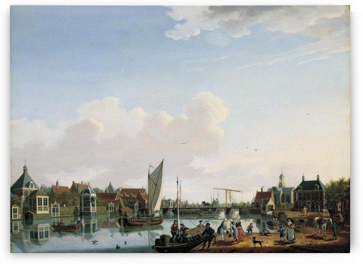 Ouderkerk, near Amsterdam by Isaac Ouwater