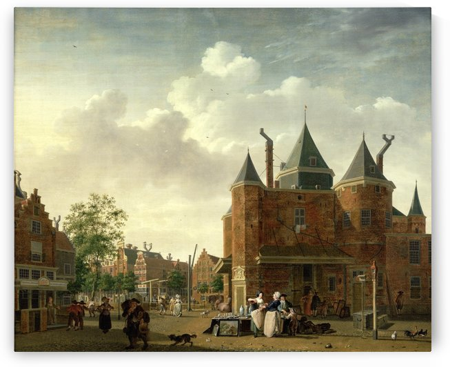De Sint Antoniuswaag te Amsterdam by Isaac Ouwater