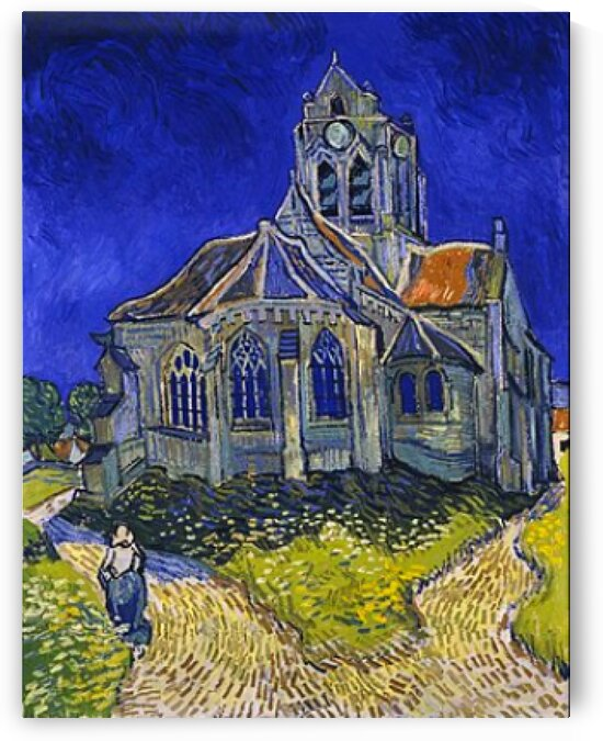 Vincent van Gogh: The Church at Auvers - HD 300ppi by Stock Photography