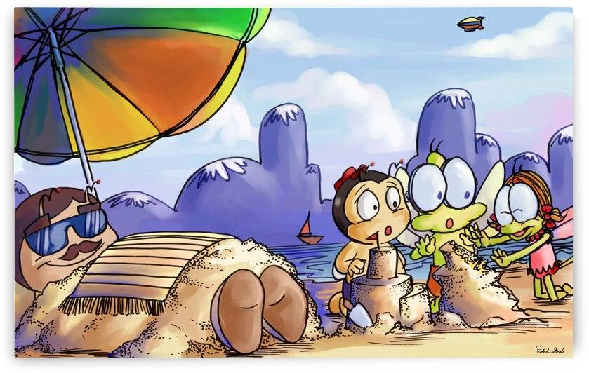 A Dream of Summer - Day at Beach - Bugville Critters by Robert Stanek