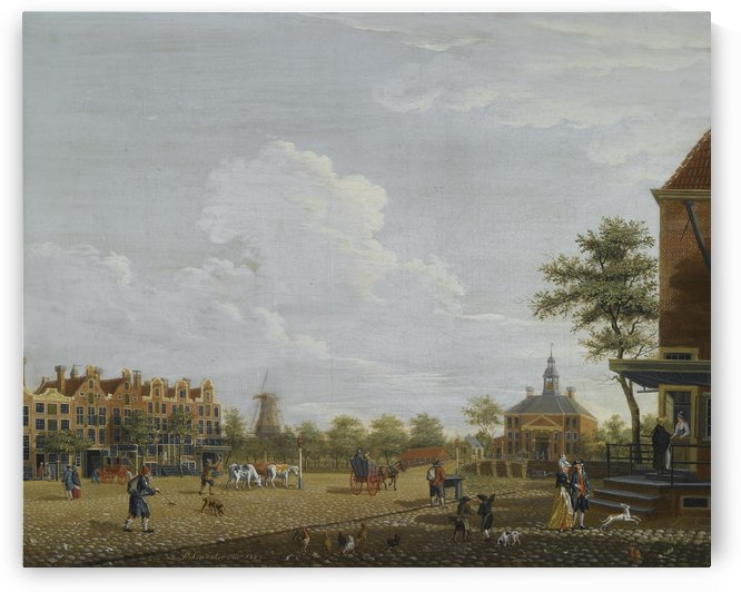 A view of the Weesperplein with the Weesperpoort by Isaac Ouwater